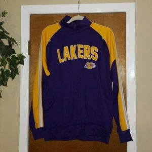 Lakers Jacket NBA LA Los Angeles Zip Up Med